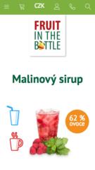 Sirupy Fruit in the bottle